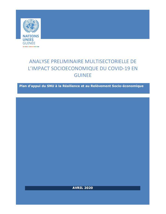 Analyse préliminaire de l'impact socio-économique du Covid-19 en Guinée