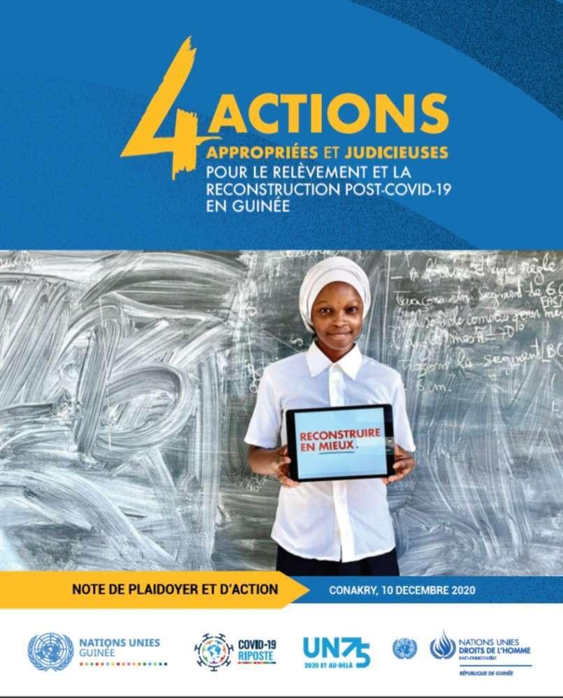Note de Plaidoyer et D'action, 4 Actions appropriées et Judicieuses pour le relèvement et la reconstruction Post-COVID-19 en Guinée