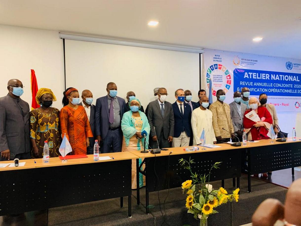 Le gouvernement guinéen et le Système des Nations Unies  font  la revue annuelle 2020 des interventions du PNUAD